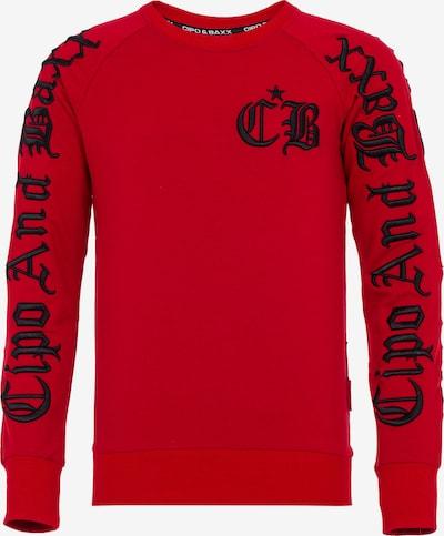 CIPO & BAXX Sweatshirt in de kleur Rood / Zwart: Vooraanzicht