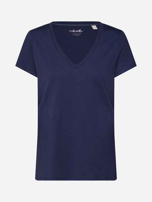 ESPRIT Shirt  FLW V-Neck T T-Shirts  in navy   ABOUT YOU c25eb4da56