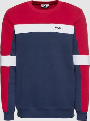 FILA Sweatshirt 'NORBIN Crew Sweat' in Blauw / Rood / Wit