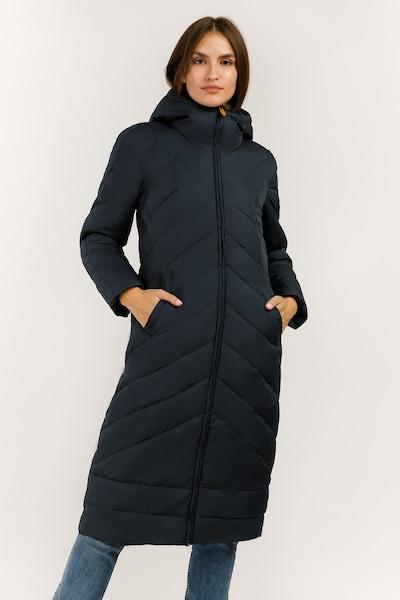 Finn Flare Wintermantel in de kleur Nachtblauw, Modelweergave