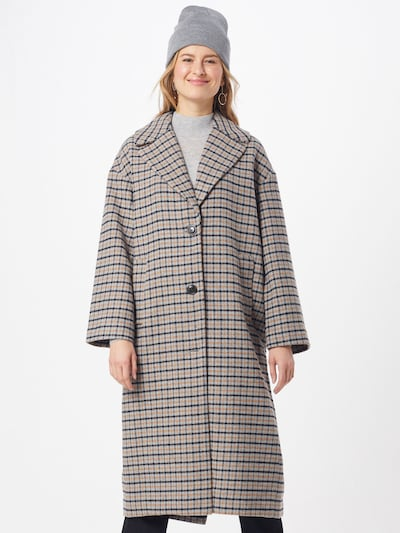 GAP Mantel 'OVSZ WOOL COAT - PLAID' in sand / schwarz, Modelansicht