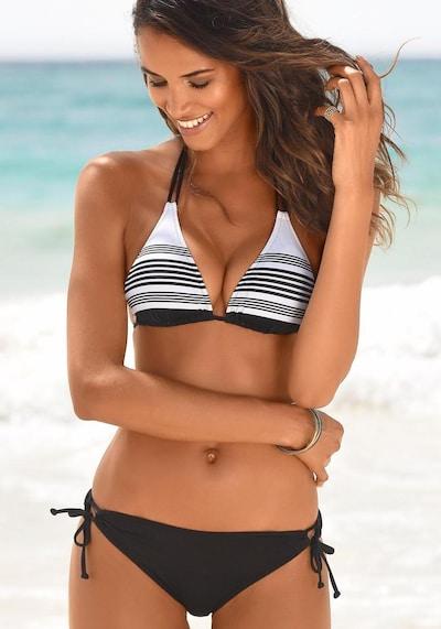 JETTE Triangel–Bikini in schwarz / weiß, Modelansicht