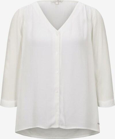 TOM TAILOR DENIM Blusenshirt in weiß, Produktansicht