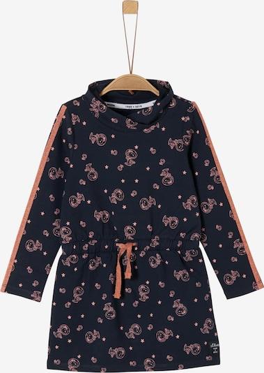 s.Oliver Junior Kleid in dunkelblau / hellpink, Produktansicht
