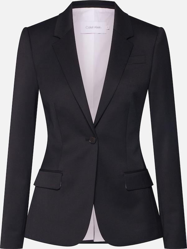 Blazer Blazer' Calvin Klein 'wool Noir Twill En OXZTwPiku