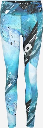 REEBOK Leggings in blau / aqua / schwarz / weiß, Produktansicht