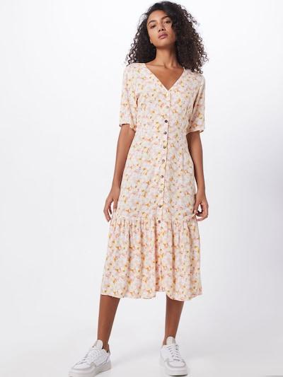 NÜMPH Kleid 'NUBABETTE' in orange / weiß, Modelansicht