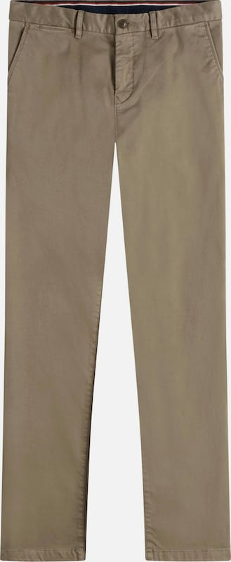 TOMMY HILFIGER Chinohose in dunkelbeige: Frontalansicht