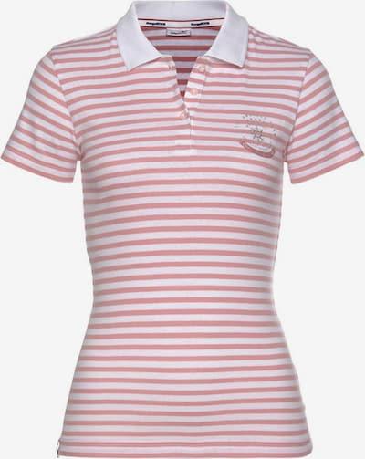 KangaROOS Poloshirt in pink / weiß, Produktansicht