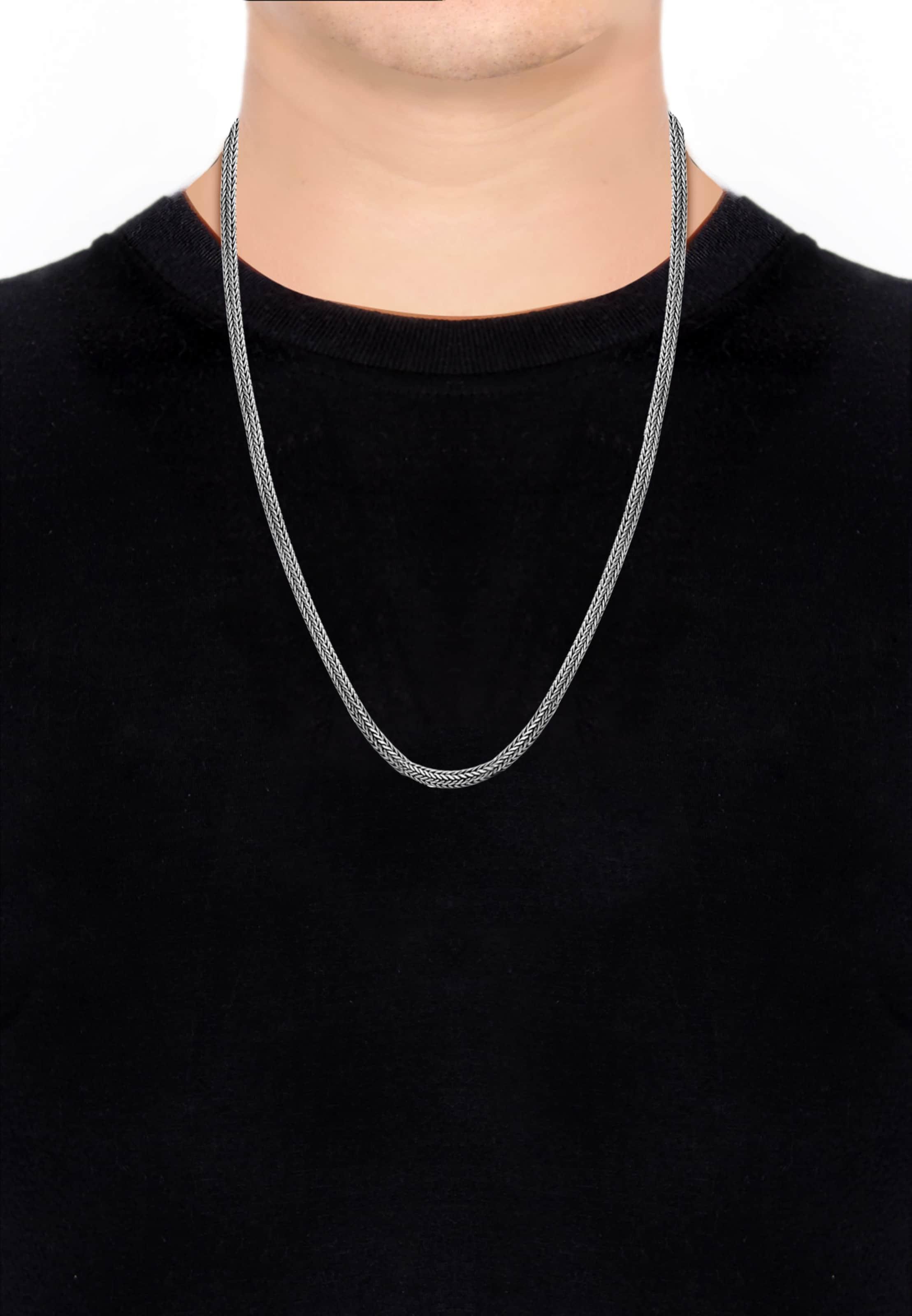 In In Halskette Silber Silber Halskette Kuzzoi Kuzzoi nw0O8kP