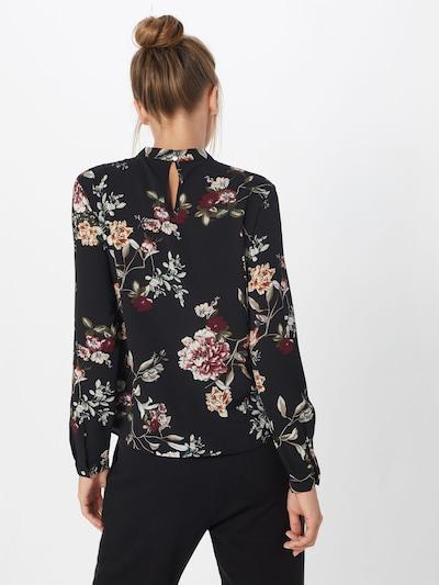 ONLY Bluse in oliv / rosa / dunkelpink / schwarz / weiß: Rückansicht
