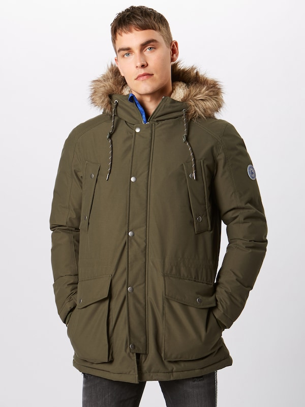 JACK & JONES Jacke 'Explore' in oliv: Frontalansicht