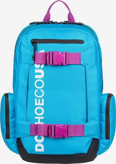 DC Shoes Rucksack 'Chalkers' in neonblau / dunkelpink / schwarz / weiß, Produktansicht