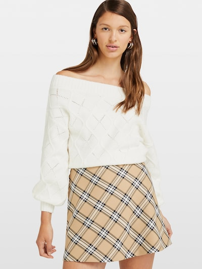 Miss Selfridge Pullover 'Pointelle' in offwhite, Modelansicht
