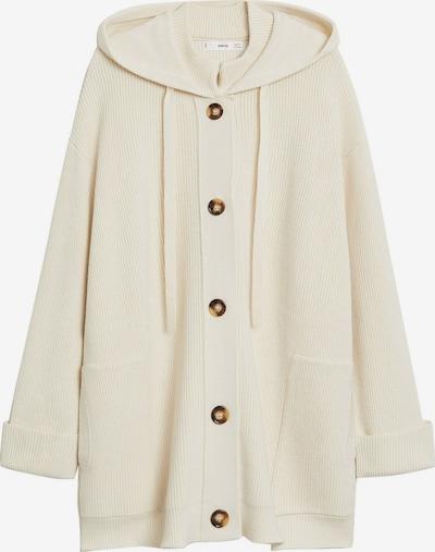 MANGO Gebreide mantel 'Phoebe' in de kleur Nude, Productweergave