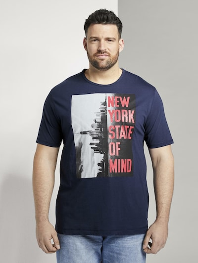 TOM TAILOR Men Plus T-Shirt in blau, Produktansicht