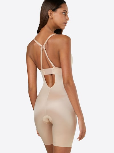 SPANX Bodysuit 'Plunge Low-Back Mid-Thigh Bodysuit' in nude: Rückansicht