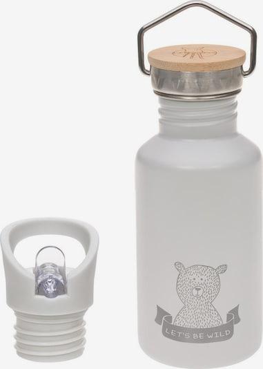 LÄSSIG Trinkflasche in hellbraun / grau / weiß, Produktansicht