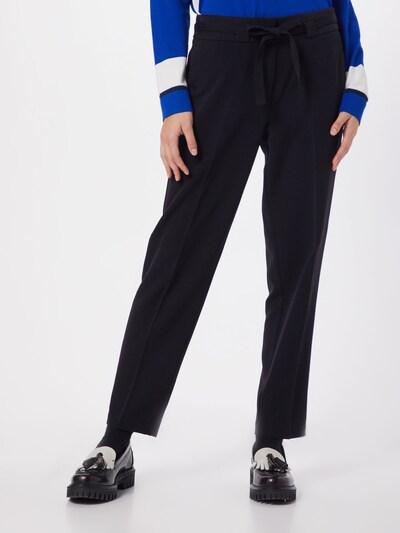 heine Pantalon à plis en noir: Vue de face