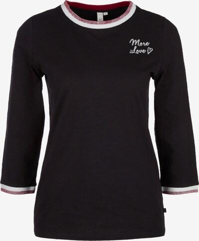 Q/S designed by Shirt in rot / schwarzmeliert / weiß, Produktansicht