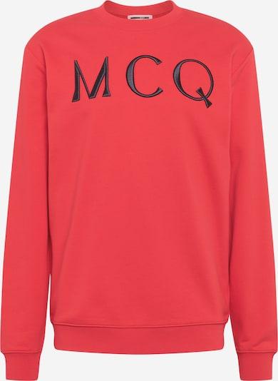 McQ Alexander McQueen Sweatshirt in rot / schwarz, Produktansicht