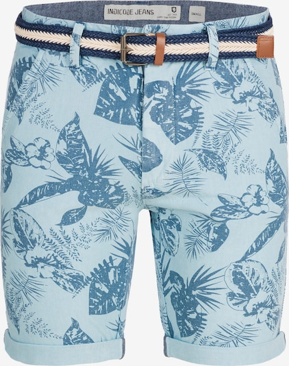 INDICODE JEANS Shorts 'Curtain' in hellblau: Frontalansicht