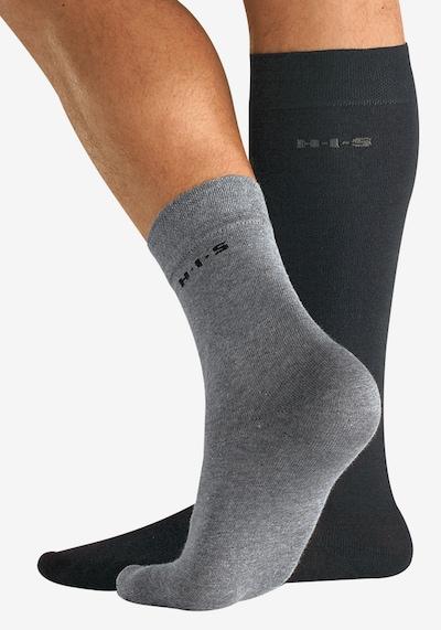 H.I.S Čarape u siva / crna: Prednji pogled