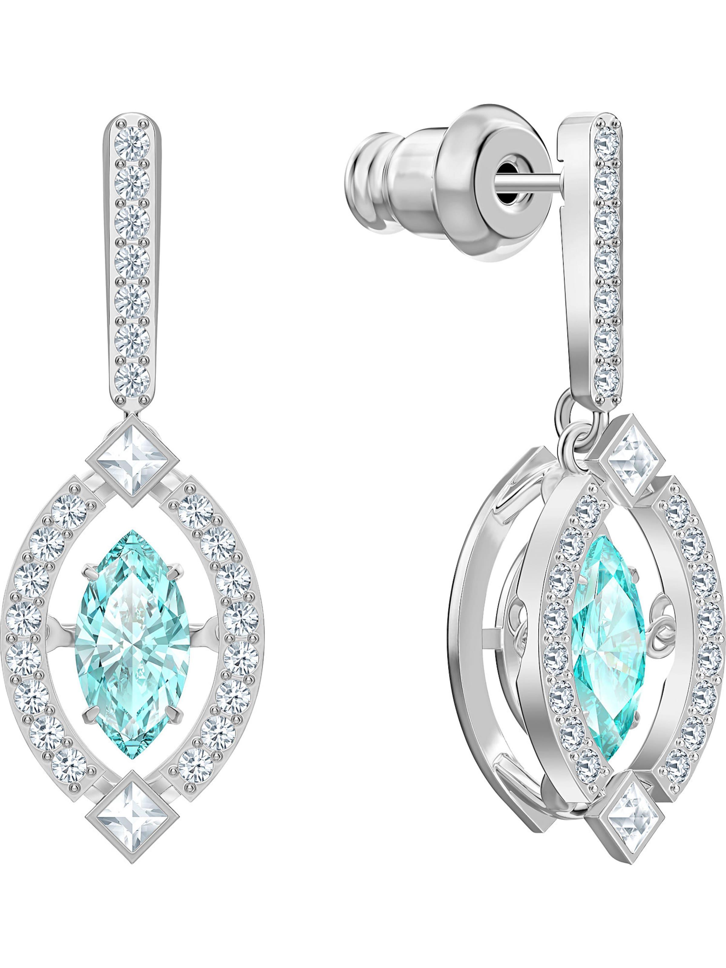 Swarovski Örhängen 'Sparkling' i turkos / silver