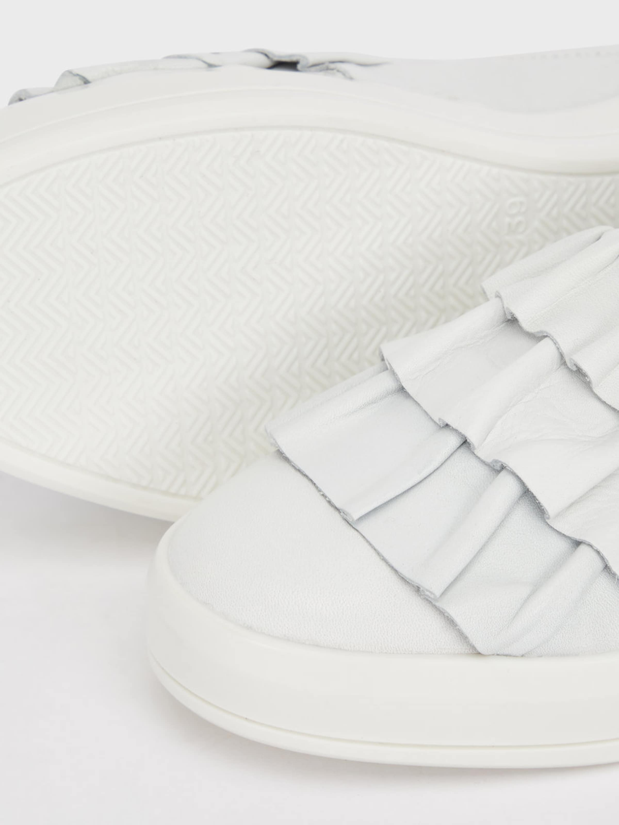 Bianco Gerüschte Sneaker Billigste Online Billigshop O0ZAE