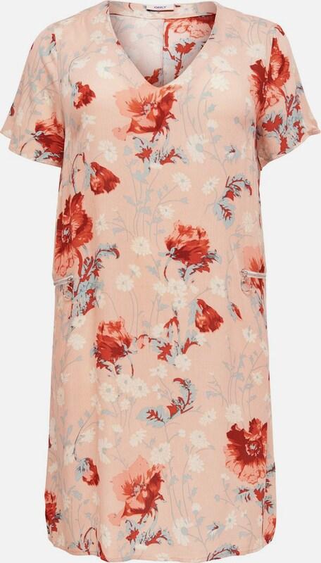 ONLY Carmakoma Kleid in opal   hellRosa   rostrot   weiß  Neue Kleidung in dieser Saison