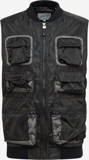 JACK & JONES Weste 'Utility' in schwarz, Produktansicht