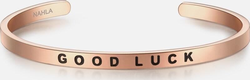 Nahla Bijoux En Acier Inoxydable Bracelet Avec Lettrage Bonne Chance
