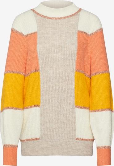 VILA Pullover 'LONNI' in beige / hellorange: Frontalansicht