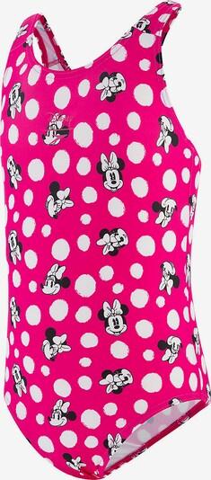 SPEEDO Badeanzug in pink / schwarz / weiß, Produktansicht