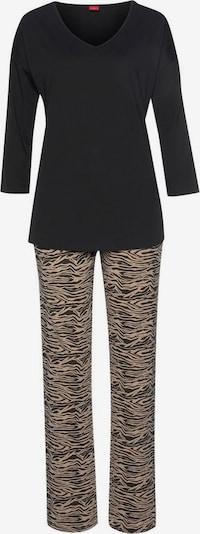 s.Oliver Pyjama in de kleur Beige / Zwart, Productweergave