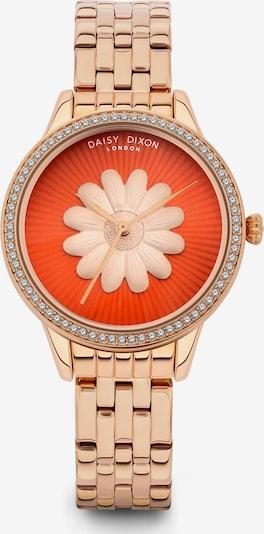 DAISY DIXON Uhr in rosegold / orangerot, Produktansicht