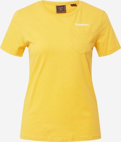 Superdry Тениска 'PATINA' в жълто / бяло, Преглед на продукта