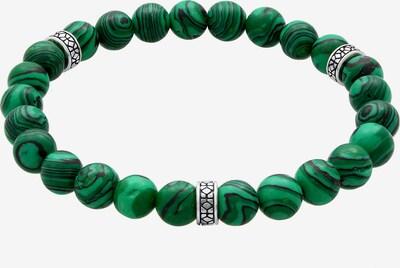 KUZZOI Armband in de kleur Donkergroen / Zilver: Vooraanzicht