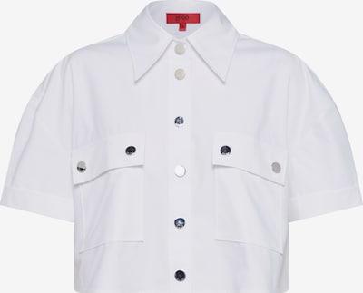 HUGO Blouse 'Emora' in de kleur Wit, Productweergave