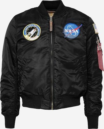 ALPHA INDUSTRIES Kevad-sügisjope 'MA-1 VF NASA', värv must