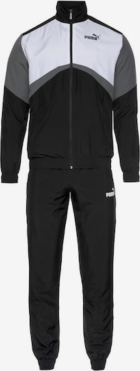 PUMA Sportanzug 'CB Retro' in grau / schwarz / weiß, Produktansicht