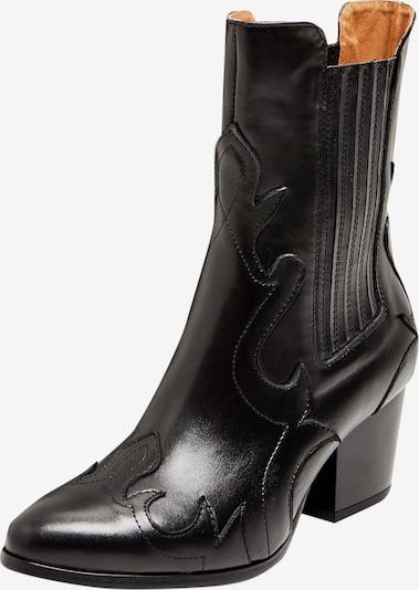 FELIPA Bottes de cowboy en noir, Vue avec produit