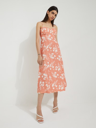 EDITED Letné šaty 'Yumiko' - svetlooranžová / biela, Model/-ka