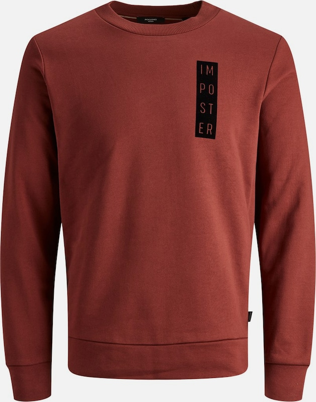 JACK & JONES Sweatshirt in rot: Frontalansicht