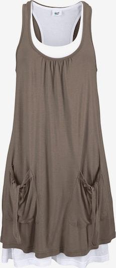 BEACH TIME Strandkleid in khaki / weiß, Produktansicht