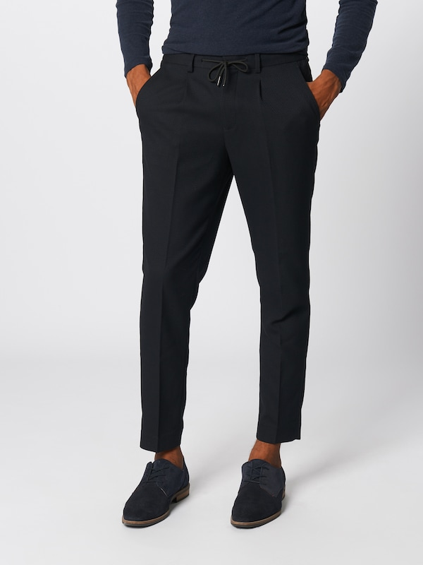 SELECTED HOMME Hose 'SLHTAPERED-LEO PANTS B' in navy, Modelansicht