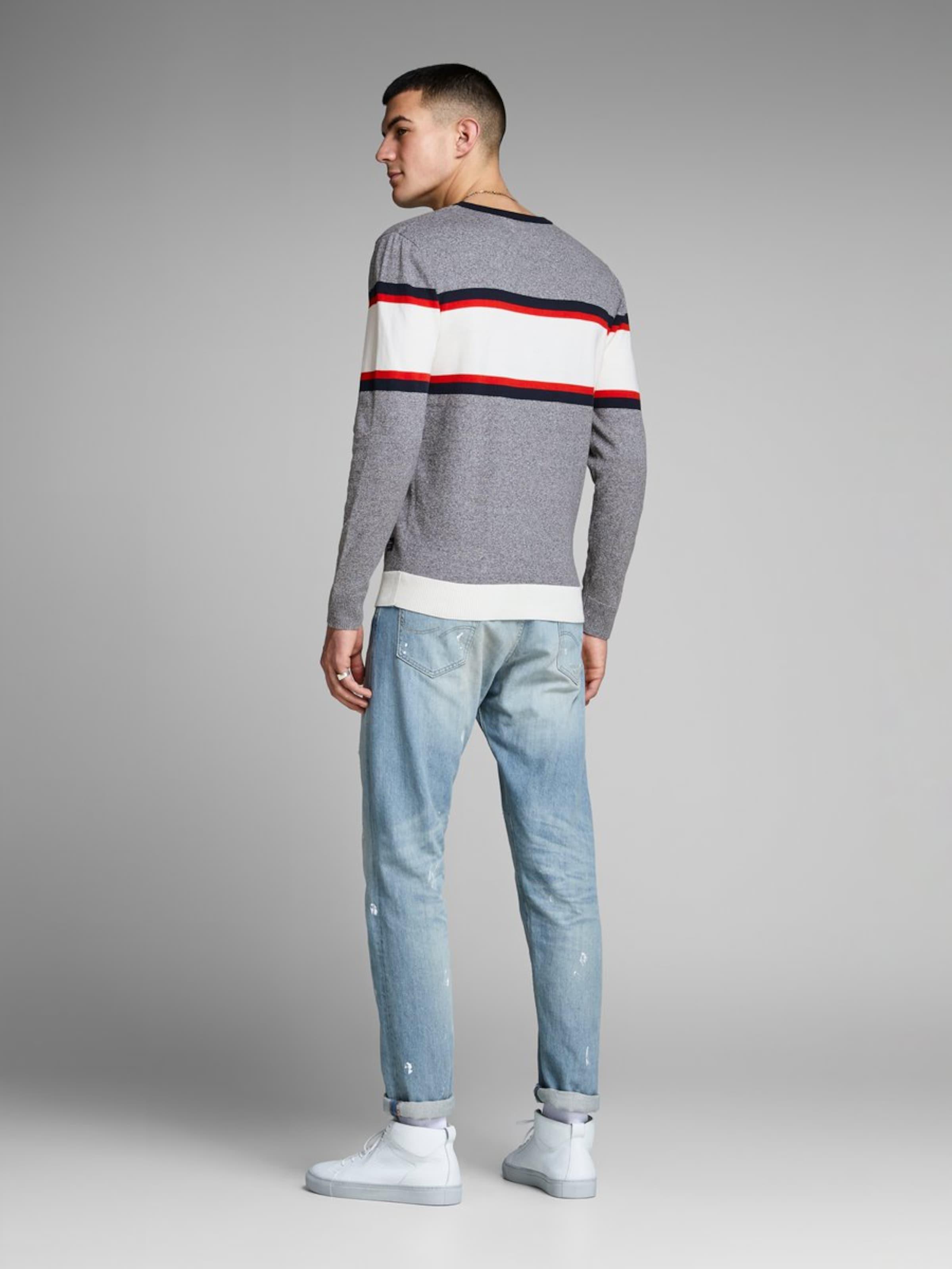 NachtblauGrau Weiß Jones In Rot Pullover Jackamp; 43j5RqAL