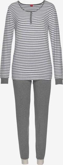 s.Oliver Bodywear Pyjama in graumeliert, Produktansicht