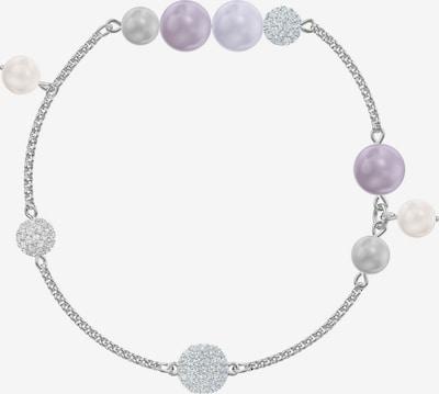 Swarovski Armband in lila / silber: Frontalansicht
