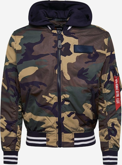 ALPHA INDUSTRIES Jacke 'MA-1 TT Hood Defense' in schlammfarben, Produktansicht
